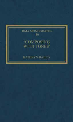 'Composing with Tones': A Musical Analysis of Schoenberg's Op.23 Pieces for Piano book cover