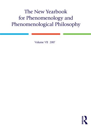 The New Yearbook for Phenomenology and Phenomenological Philosophy: Volume 7, 1st Edition (Paperback) book cover