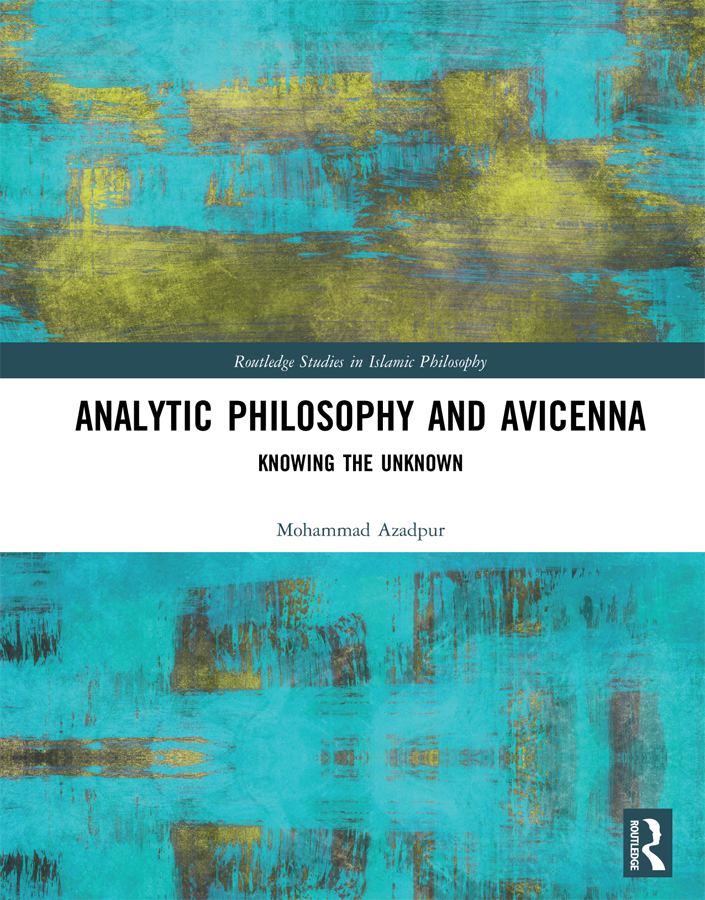 Analytic Philosophy and Avicenna: Knowing the Unknown book cover