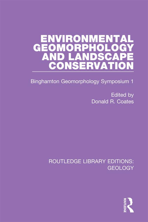 Environmental Geomorphology and Landscape Conservation