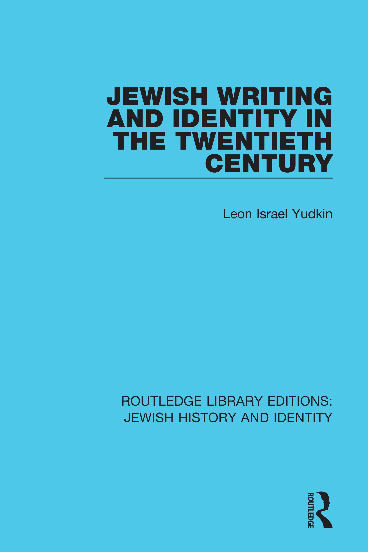 Jewish Writing and Identity in the Twentieth Century