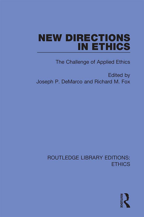 New Directions in Ethics