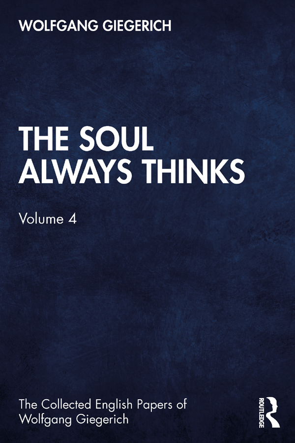 The Soul as the Axis of the World1