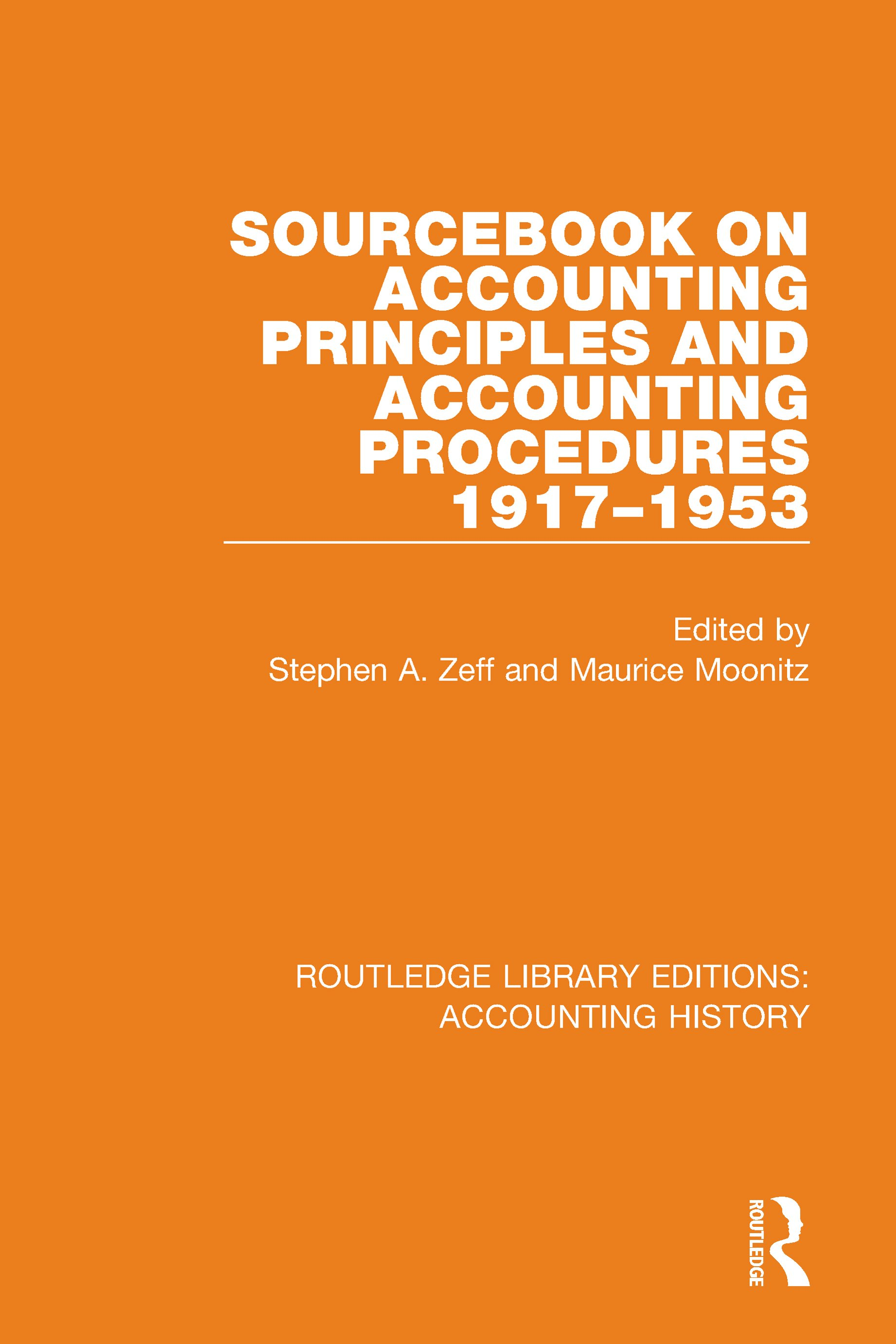 Sourcebook on Accounting Principles and Procedures, 1917-1953