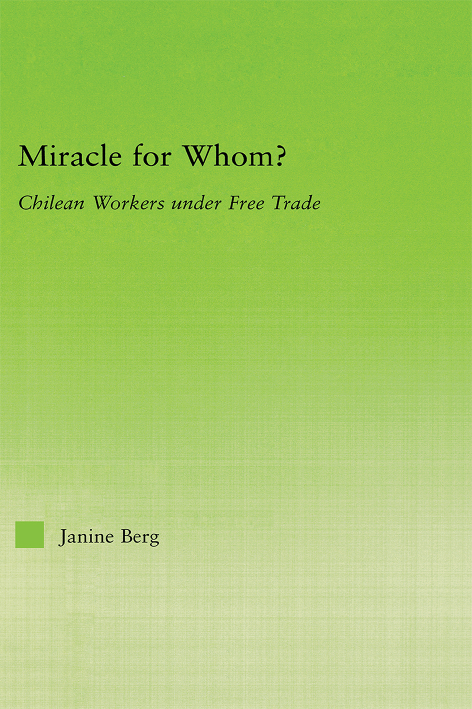 Miracle for Whom?