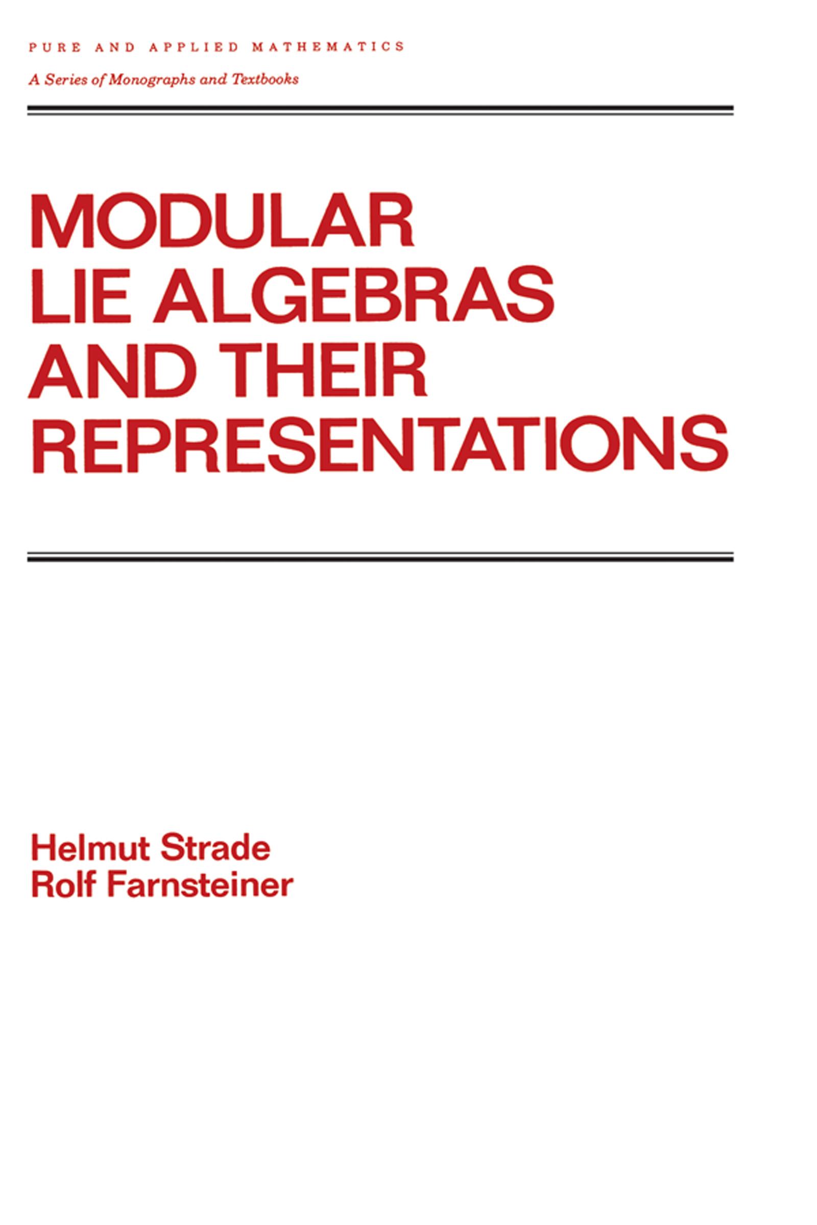 Modular Lie Algebras and their Representations