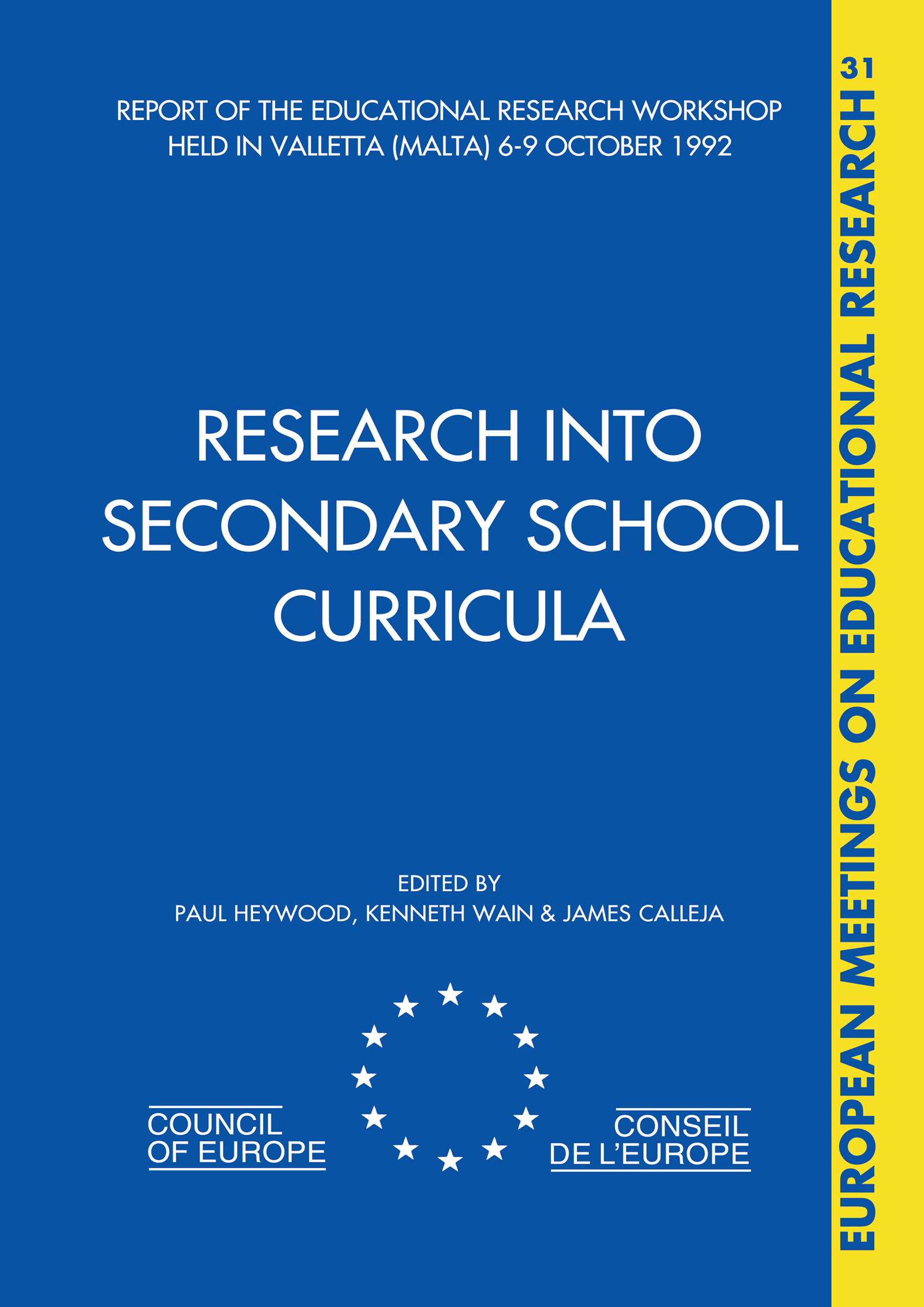 Research into Secondary School Curricula