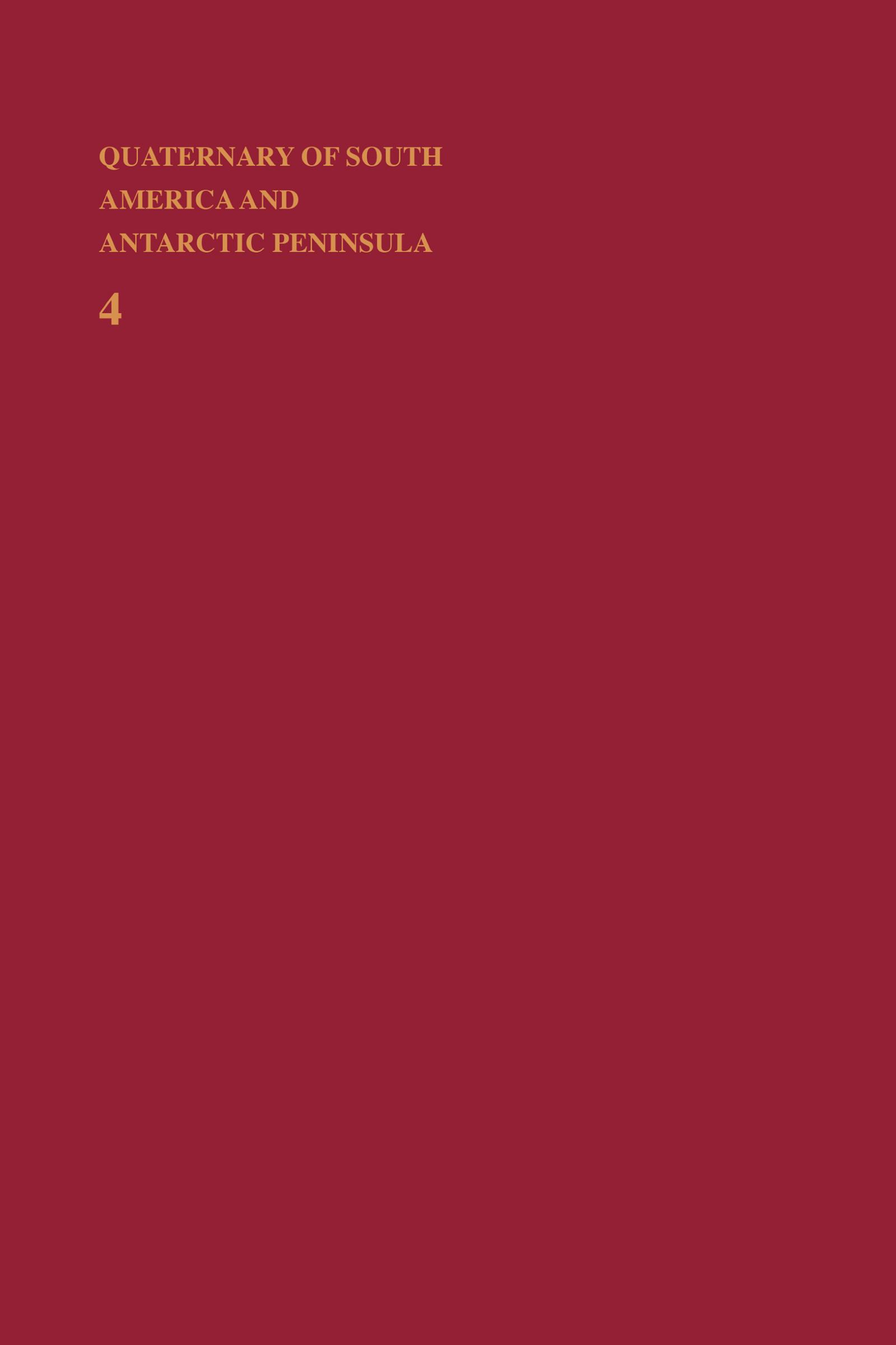 Quaternary of South America and Antarctic Peninsula