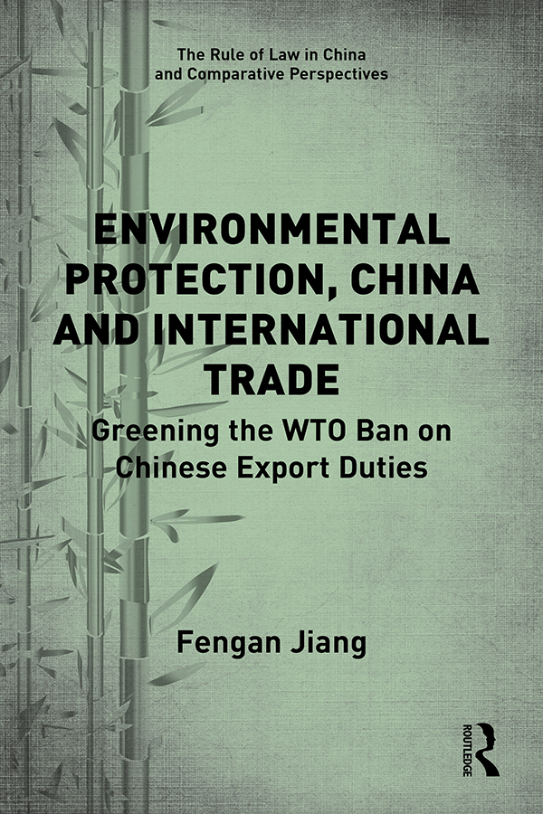 Policy rationales behind Chinese export duties