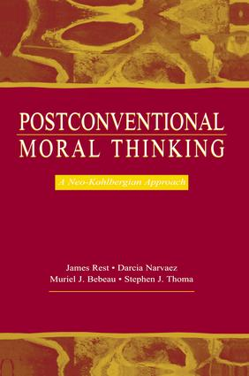 Postconventional Moral Thinking: A Neo-kohlbergian Approach (Hardback) book cover