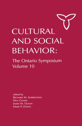 Culture and Social Behavior: The Ontario Symposium, Volume 10, 1st Edition (Paperback) book cover