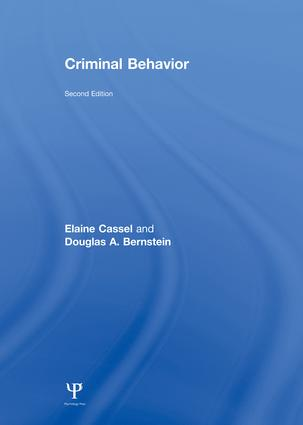 Criminal Behavior: 2nd Edition (Paperback) book cover