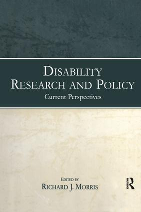 Disability Research and Policy: Current Perspectives book cover