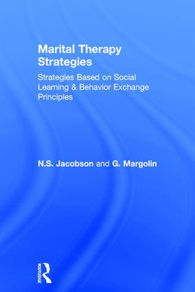 Marital Therapy Strategies Based On Social Learning & Behavior Exchange Principles (Hardback) book cover