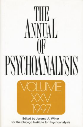 The Annual of Psychoanalysis, V. 25: 1st Edition (Paperback) book cover