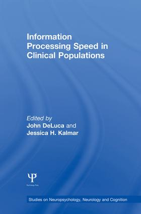 Information Processing Speed in Clinical Populations (e-Book) book cover
