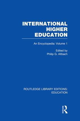 International Higher Education Volume 1: An Encyclopedia book cover