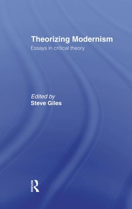 Theorizing Modernisms