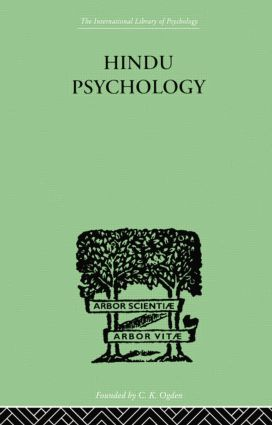Hindu Psychology: Its Meaning for the West, 1st Edition (Paperback) book cover