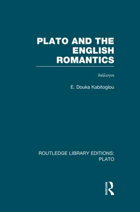 Plato and the English Romantics (RLE: Plato) (e-Book) book cover