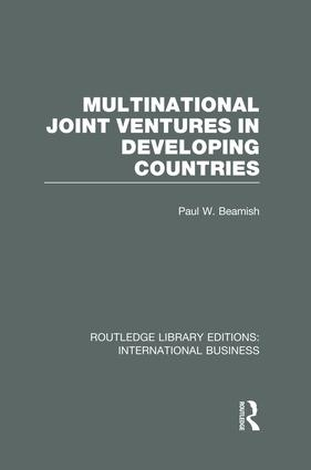 Multinational Joint Ventures in Developing Countries (RLE International Business) book cover