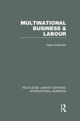 Multinational Business and Labour (RLE International Business): 1st Edition (Paperback) book cover