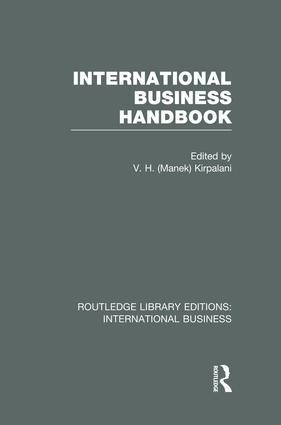 International Business Handbook (RLE International Business): 1st Edition (Paperback) book cover