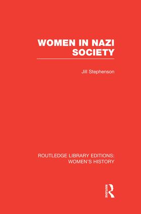 Women in Nazi Society book cover