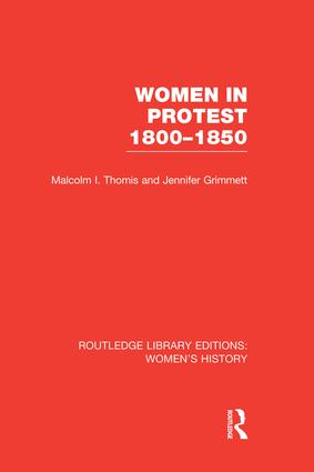 Women in Protest 1800-1850 book cover