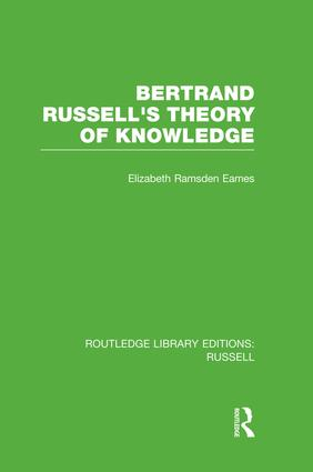 Bertrand Russell's Theory of Knowledge book cover
