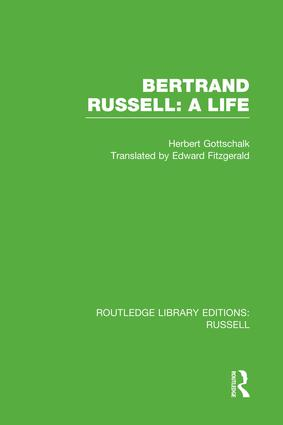 Bertrand Russell: A Life book cover