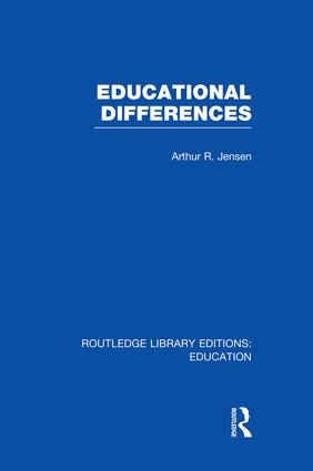 Educational Differences (RLE Edu L): 1st Edition (Paperback) book cover