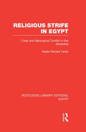 Religious Strife in Egypt (RLE Egypt): Crisis and Ideological Conflict in the Seventies, 1st Edition (Paperback) book cover
