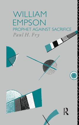 William Empson: Prophet Against Sacrifice book cover
