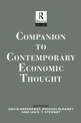 Companion to Contemporary Economic Thought book cover