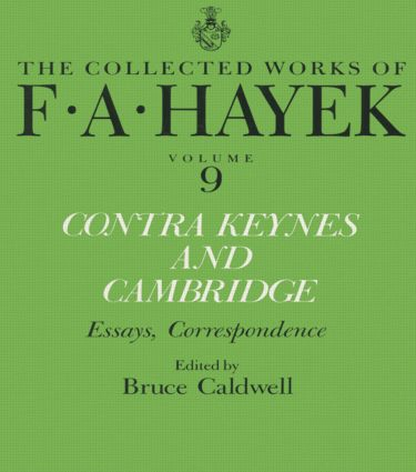 Contra Keynes and Cambridge: Essays, Correspondence book cover