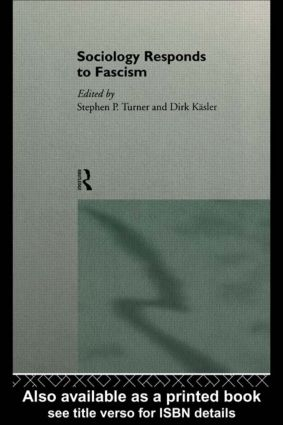 Sociology Responds to Fascism: 1st Edition (Paperback) book cover