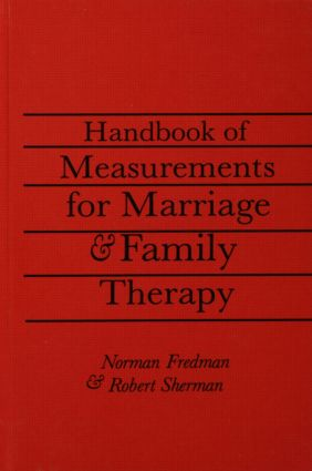Handbook Of Measurements For Marriage And Family Therapy: 1st Edition (Paperback) book cover