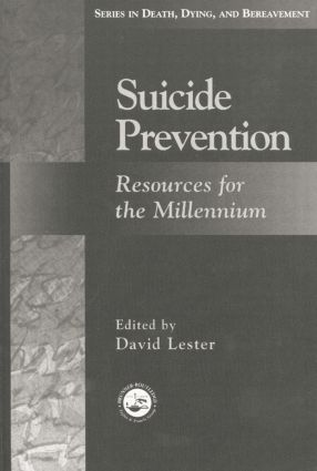 Suicide Prevention: Resources for the Millennium, 1st Edition (e-Book) book cover