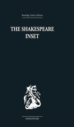 The Shakespeare Inset: Word and Picture, 1st Edition (Paperback) book cover