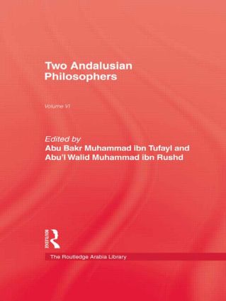 Two Andalusian Philosophers: 1st Edition (Paperback) book cover