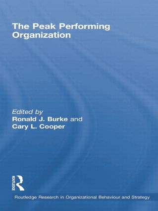 The Peak Performing Organization: 1st Edition (Paperback) book cover