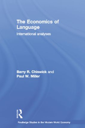 The Economics of Language: International Analyses, 1st Edition (Paperback) book cover