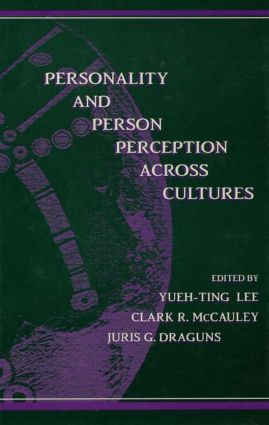 Personality and Person Perception Across Cultures: 1st Edition (Paperback) book cover