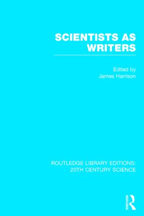 Scientists as Writers (Hardback) book cover
