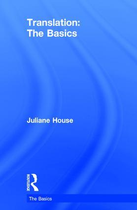 Translation: The Basics: 1st Edition (Hardback) book cover