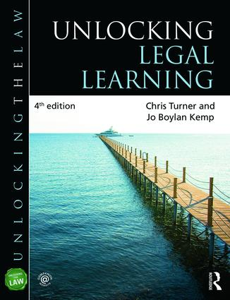 Unlocking Legal Learning book cover