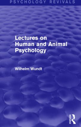 Lectures on Human and Animal Psychology (Psychology Revivals) (Hardback) book cover