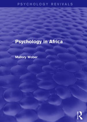 Psychology in Africa (Psychology Revivals)