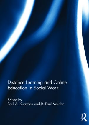 Distance Learning and Online Education in Social Work (Hardback) book cover